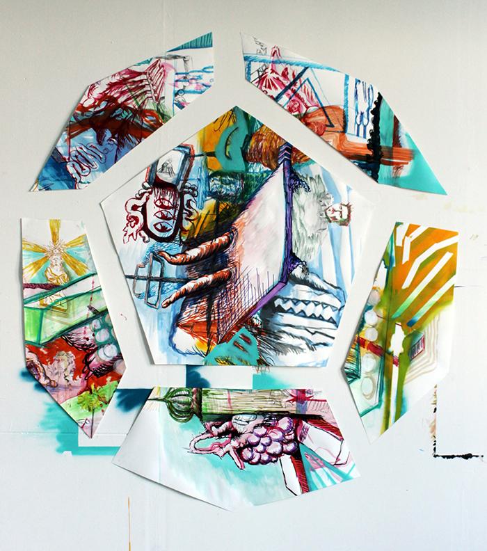 """""""Debacle (Geometría y figuración)"""" –  Residencia internacional Meet Factory- (Praga, Rep. Checa) 2014"""