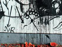 «Mural alRaso» junto al poeta Luis Melgarejo (2010)